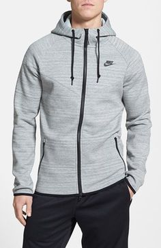 Nike 'Tech Windrunner' Full Zip Fleece Hoodie available at Nike Outfits, Sport Outfits, Tomboy Outfits, Emo Outfits, Nike Sweatshirts, Nike Hoodies For Men, Sport Fashion, Mens Fashion, Style Masculin