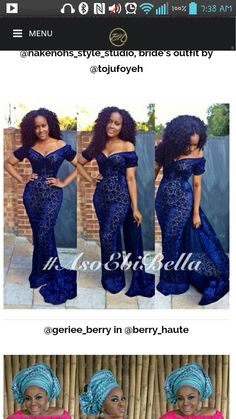 Navy blue asoebi