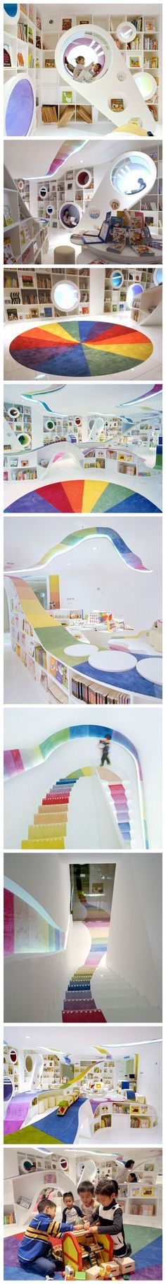 【儿童书店,北京,designed by SAKO ,Bookstore for children in Beijin,China: