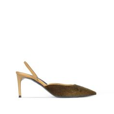 Shop the Khaki Slingback Alter Pony Pumps by Stella Mccartney at the official online store. Discover all product information.