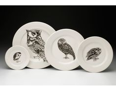 Laura Zindel Design - Charger: Screech Owl 1 White, $73.00 (http://www.laurazindel.com/charger-screech-owl-1-white/)