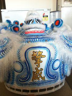 "Sky blue. ""qing wei"" (Sydney, Australia) #Liondance #liondancing #lion #chinese #Martialarts #kungfu #chineseliondance #chinesenewyear #futsan #hoksan #futhok #art #design #traditional #culture #sydney #Australia #sky #blue #white"