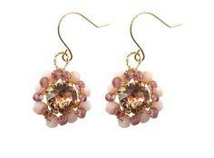Blooming oorbellen roze opaal | InTu jewelry design