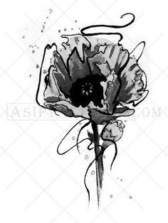 Poppy Flower Tattoo - AsIfTattooed.com