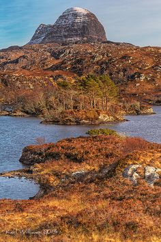 Suilven from Loch Druim Suardalain, Assynt, Scotland by Karl Williams