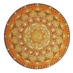 narancs-barna nap-spirál mandala / orange-brownk Sun-spiral mandala