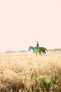 One day I'll be able to do this whenever I want! Horseback riding in an open field bareback.