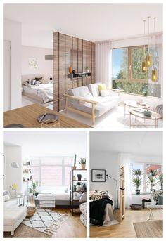 Apartment Room, Interior, Apartment Design, Small Apartment Interior, Girl Bedroom Designs, Studio Interior, Bedroom Design, Small Apartment Living Room, Glass Doors Interior