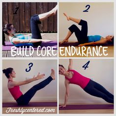Build core endurance with these simple exercises! Full details at www.freshlycentered.com