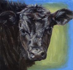 Denise Rich   OIL   Black Angus Calf