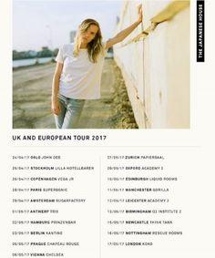 European Tour, Antwerp, Zurich, Leicester, Oslo, Newcastle, Copenhagen, Stockholm, Manchester