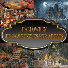 Halloween Jigsaw Puzzles For Adults are the ideal pastime for the Spooky Halloween Holiday! Enjoy these Halloween Jigsaw Puzzles with family and friends!