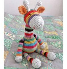 귀엽고 예쁜 기린 코바늘인형 만들기 영문도안 알록달록 무지개처럼 예쁜 코바늘 기린인형입니다.