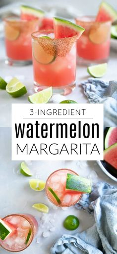 Summer Drinks, Fun Drinks, Cocktail Drinks, Cocktail Recipes, Beverages, Cocktail Ideas, Mixed Drinks, Watermelon Margarita, Watermelon Recipes