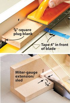 How to safely make mortise plugs using your tablesaw