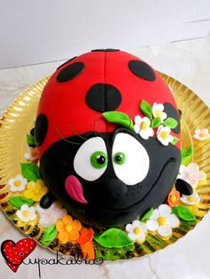 lady bug cake by ciupakabra