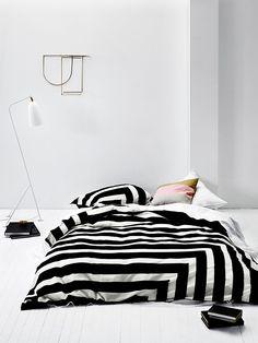 Corner Stripe Quilt Cover by Aura. #stripes #quilt #bedding