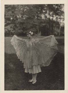 Photograph of a woman in costume as the element Radium for the Mount Holyoke College 75th Anniversary Pageant. :: Archives & Special Collections Digital Images