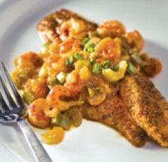 Blackened Catfish with Crawfish Etouffee ~ Louisiana Cookin