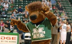Marshall University Thundering Herd. Marco the Buffalo. The name Maro is a combination of MArshall and COllege. The name continues after it became a university.