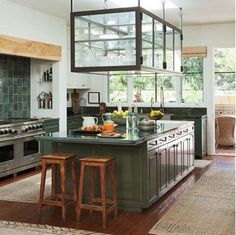 hang kitchen cabinet from ceiling - Google Search