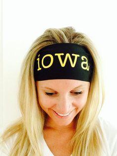 Iowa Spandex Headband  by ThePaisleyThread on Etsy