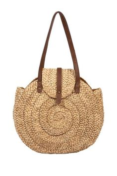 Agata Collection Round Shoulder Tote by Beach Ready Bags & Hats on - cheap branded bags, cheap women bags, bag ladies online *ad My Bags, Purses And Bags, Estilo Hippie, Straw Handbags, Hobo Style, Basket Bag, Crochet Purses, Summer Bags, Beautiful Bags