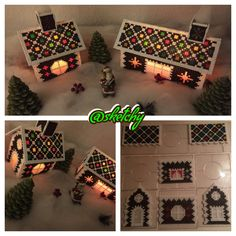 The lights will guide you to the house … – Wonderland beads perler / by myself – Hama Beads Pixel Beads, 3d Perler Bead, Hama Beads Design, Diy Perler Beads, Fuse Beads, Christmas Perler Beads, 3d Christmas, Pearler Bead Patterns, Perler Patterns