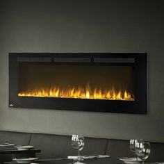 Allure Recessed Wall Mounted Electric Fireplace