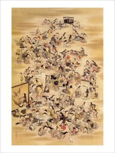 Hundred of Japanese Women Giclee Print by Jyakuchu Ito at Art.com
