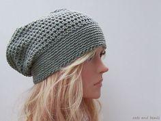 Mütze / Häkelmütze AUDREY in Khaki