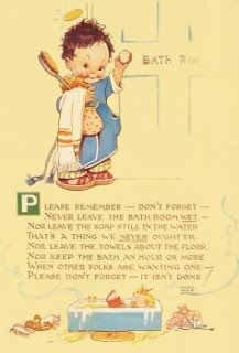 March House Books Blog: Mabel Lucie Attwell - please remember - don't forget - never leave the bathroom wet!