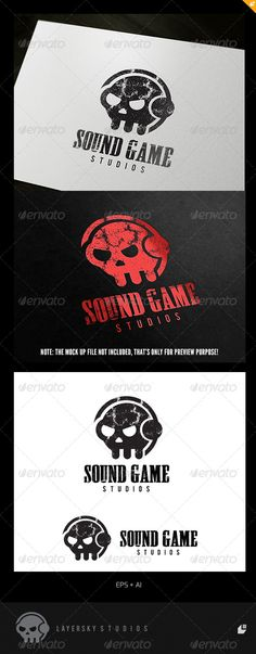 """Game Sound Logo  #GraphicRiver        Game Sound – Logo Template   This logo design for Game dev, Sound and Audio business.  Logo Template Features   AI and EPS 300PPI  CMYK  100% Scalable Vector Files  Easy to edit color / text  Ready to print   This Logo use free font from  .dafont  : - Font name """"VIP Roman"""" and you can download at """" .dafont /vip-roman.font""""  My Logo Templates Designs      If you buy and like this logo, please remember to rate it. Thanks!     Created: 3July13…"""