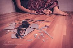 Catastrophe - Pinned by Mak Khalaf This is the first photo of my series based on taboos and superstitions. Breaking of mirror is considered to be bad omen. This picture reflects the sadness accompanied with bad omens. Abstract beautifulgirlmirrorreflectionsadstudiosuperstition by radhika205