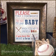 Baseball Baby Shower Party Ideas | Photo 1 of 18 | Catch My Party