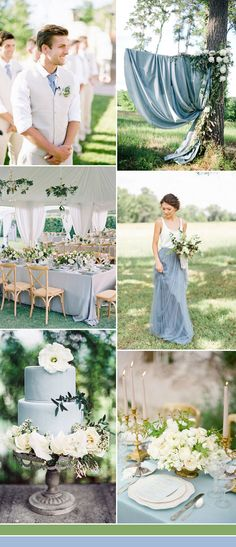 serenity blue wedding color ideas