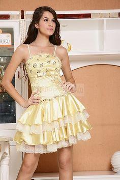 Multi-layered short formal dress