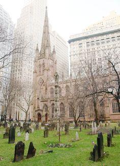 The church where Alexander Hamilton is buried. New York City (NYC) Trinity Church. IWalked Audio Tours