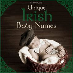 Give your baby the luck of the Irish with one of these unique names - Baby Boy Names Baby Girl Names Irish Girl Names, Baby Names Scottish, Baby Girl Names Spanish, Baby Names Short, Unique Baby Names, Names Baby, Unique Irish Boy Names, Celtic Boy Names, Unusual Boy Names