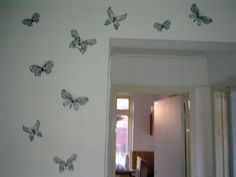 Butterfly's flying over the wall, love it!