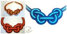 Collar de trapillo o totora con nudo celta hecho con dos colores, también se puede hacer con cordón, cuero, paracord y otro colorido. La plantilla se puede d...