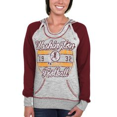 Washington Redskins Majestic Women's O.T. TD IV Pullover Hoodie - Gray - $42.99