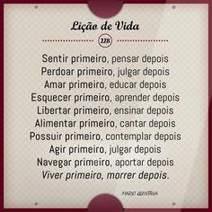 O que deve vir primeiro... #bomdia #sexta #calor #licaodevida #trechos #pensadores #literatura #MárioQintana