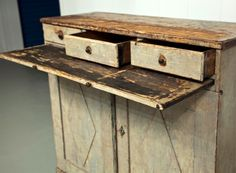 Early 19th Century Gustavian Sideboard with Diamond Detail image 4
