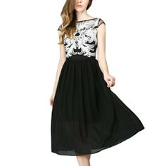 Damen langes Sommerkleid aus Chiffon Cocktailkleid Schwarzes Ballkleid Abendkleid Fashion Season, http://www.amazon.de/dp/B00KRZRM2W/ref=cm_sw_r_pi_dp_PEcKtb0XFCBSY