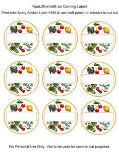 canning labels   Free Printables} Fruit & Vege Jar Canning Labels   Your LifEvents ...