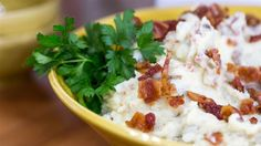 Carson's Mom's Cloud Nine Mashed Potatoes   In a creative  spin, Siri Pinter and Carson Daly dress up mashed potatoes with crumbled bacon—and booze!