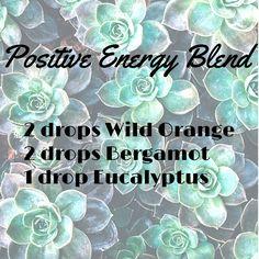 Diffuser Blends -- Positive Energy Blend #WildOrange #Bergamot #Eacalyptus