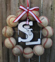 The Original Saint Louis Cardinals Baseball Wreath with STL