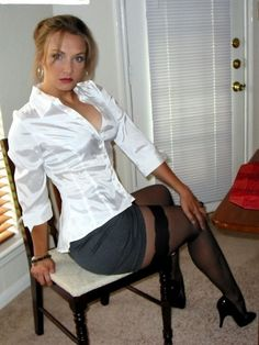 """""""porn-and-milf: """"Milf With Sexy Nipples - gallery """" """"I should have told you everything while you were fucking."""" """" She would make me cum just looking Sexy Blouse, Blouse And Skirt, Sexy Older Women, Sexy Women, Nylons, Sexy Librarian, Satin Shirt, Satin Blouses, Tights"""